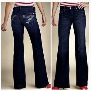 7FAM Dojo Flare Wide Leg Jeans sz. 27